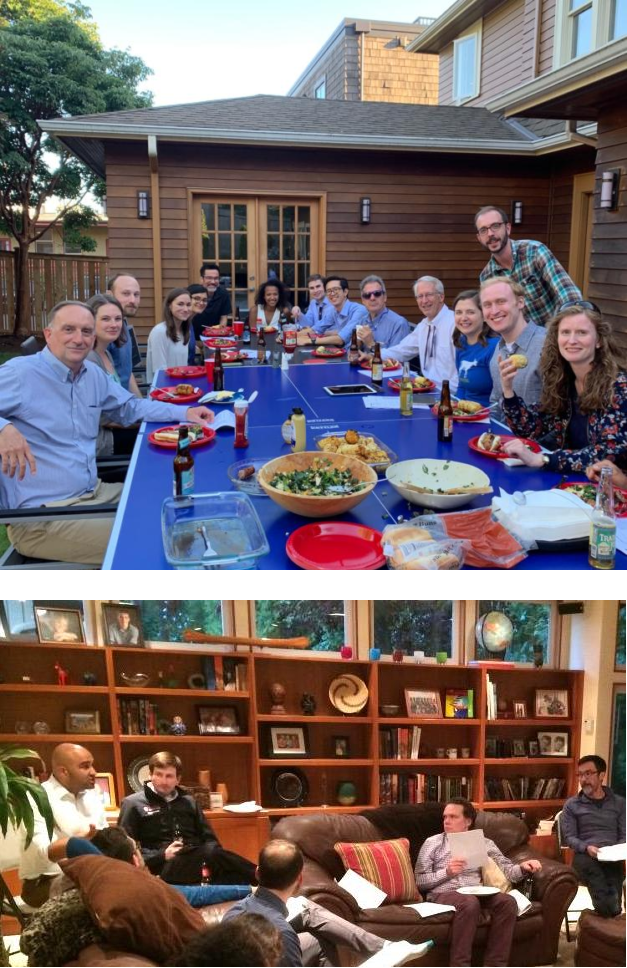 Faculty and fellows at Journal Club