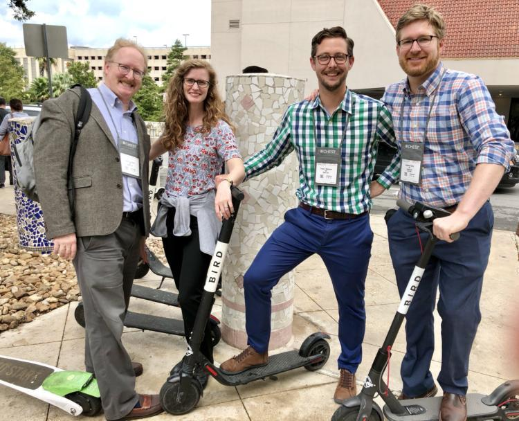 Faculty and fellows scooting around ATS