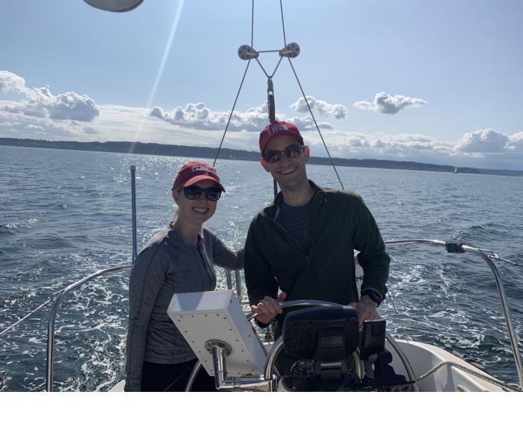 Fellows on Mark Tonelli's boat